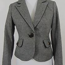 Authentic Express Grey Blazer Size 6             (A1471) Photo