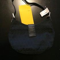 Authentic Fendi Bag Black Leather Strap     It Is Missing the Name Plate Photo
