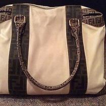Authentic Fendi Bag Off White/brown  Photo