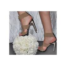 Authentic Fendi Beige Platform Sandals Heels Size 38.5 Photo