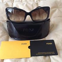 Authentic Fendi Black Icon Band Square Sunglasses Photo