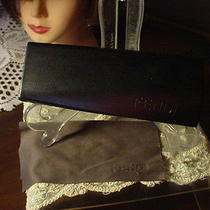 Authentic Fendi Black Letter Sunglass Case With Cleaning Cloth  Photo