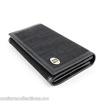 Authentic  Fendi Black Zucca & Leather Wallet  8m0000 - New Condition Photo