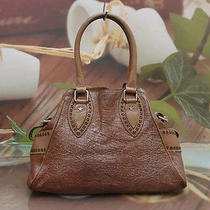 Authentic Fendi Brown Leather Luxury Tote Bag Photo