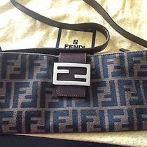 Authentic Fendi Designer Small Shoulder Bag Handbag Zucca Trendy Italy Photo