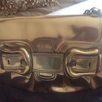 Authentic Fendi Golden Metallic Handbag Photo