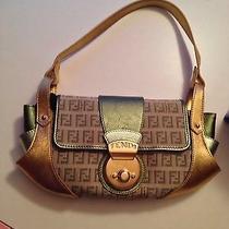 Authentic Fendi Handbag Gold/ Green Photo