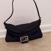 Authentic Fendi Small Microfiber Flap Bag Purse Photo