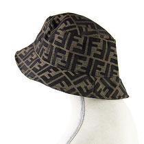 Authentic Fendi Womens Brown Fedora Hat Made Italy Excellent Condition Designer Photo
