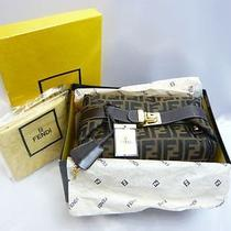Authentic Fendi Zucca Canvas Brown Vanity Cosmetic Bag With Box 1543 Photo