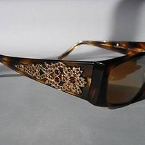Authentic Ferragamo Women's Sunglasses Tortiseshell Swarovski Crystals 550 Photo
