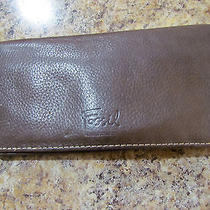 Authentic Fossil Buttery Soft Chocolate Brown Leather Ladies Wallet Photo
