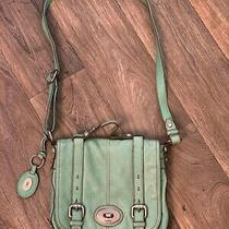 Authentic Fossil Genuine Shoulder Bag or Purse - Turquoise Green Photo