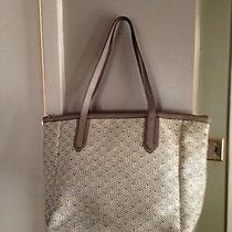 Authentic Fossil Large Sydney Woven Tote Photo