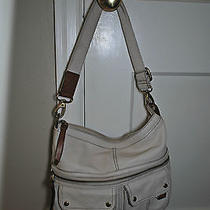 Authentic Fossil Off-White Leather Bag/purse Photo