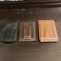 Authentic Fossil/ Tommy Hilfiger Lot of 3 Mens Card Holders Photo