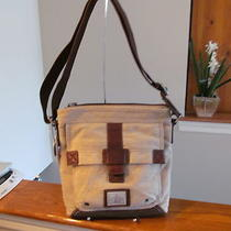 Authentic Fossil Trail Ns City Bag Messenger Crossbody Shoulder Bag Brown Khaki Photo