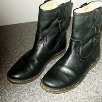 Authentic Frye Black Leather Ankle Boots Womens Ladies Size 6-1/2 B Euc Photo