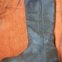 Authentic Frye 'Paige' Tall Riding Boot Grey Antiqued  Leather 9.5 B Photo