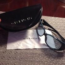 Authentic Givenchy Black Sunglasses With Case & Microfiber Cloth Photo