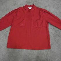 Authentic Givenchy Blouse Size 22w Retro Red. Photo