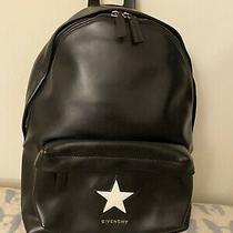 Authentic Givenchy Classic Star Leather Backpack in Black Gently Used Likely New Photo