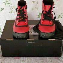 Authentic Givenchy Glaston Ankle Rain Boots Sz Eu39 Rrp496 Red() Photo
