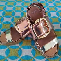 Authentic Givenchy Metallic Leather Sandals Photo