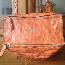 Authentic Givenchy Mini Pandora Small Box Bag Rare Distressed Orange Leather See Photo