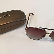Authentic Gucci 1933/s Ewoyy Gold Havana Unisex Aviator Sunglasses With Case Photo