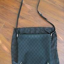 Authentic Gucci Abbey Gg Logo Black Canvas D Ring Messenger Crossbody Bag  Photo