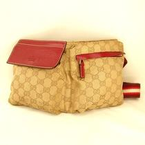 Authentic Gucci  Belt Bag Canvasused Photo