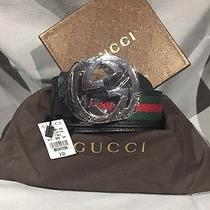 Authentic Gucci Belt Black Green Red 90cm 30-32 Photo