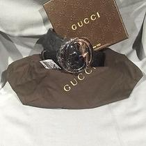 Authentic Gucci Belt Black Guccissima 95cm 32-34 Photo