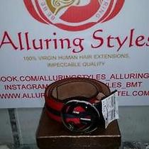 Authentic Gucci Belt With Interlocking G Buckle Sz 105cm Sz36-38us Photo