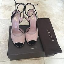 Authentic Gucci Black and Blush Pink Women Sandals Size 39 Photo
