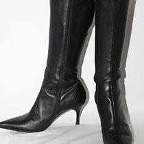 Authentic Gucci Black Leather Knee High Boots Size 6 B Photo
