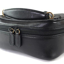 Authentic Gucci Black Leather Vanity Cosmetic Pouch Bag Gb1838l Photo