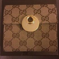 Authentic Gucci Brown Gold Wallet  Photo