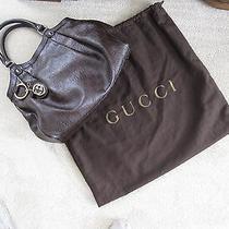 Authentic Gucci Brown Guccissima Sukey Monogram Medium Tote Handbag Photo