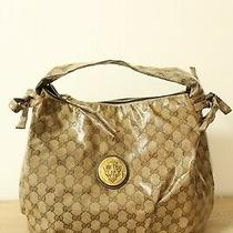 Authentic Gucci Brown Tote Bag Pvc  8111 Photo