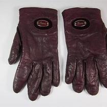 Authentic Gucci Burgundy Leather Gloves W/