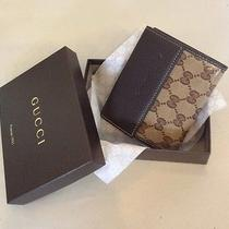 Authentic Gucci Crystal Wallet With Coin Snap Closure Brown/gold With Nib Photo