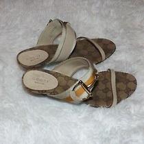 Authentic Gucci Gg Canvas  Sandals Mules Photo