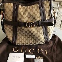 Authentic Gucci Gg Running Medium Hobo Photo