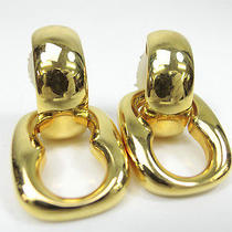 Authentic Gucci Gold Metal 2way Earrings From Japan  Photo