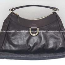 Authentic Gucci Guccissima D-Ring Dark Brown Leather Hobo Bag  Photo