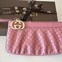 Authentic Gucci  Guccissima Leather Wrislet  Clutch  Large Size New Photo