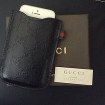 Authentic Gucci Iphone Blackberry Ipod  Leather Case Holder Unisex Photo