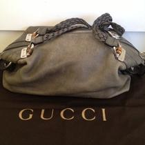 Authentic Gucci Leather Bamboo Bar Hobo in Warm Grey  Photo